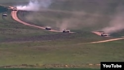 Nagorno-Karabakh -- NK Defense Ministry publishes a video of military equipment moving along the line of contact, 22Apr2018