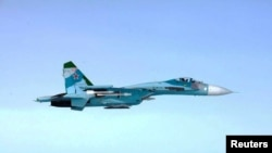 Finland -- A Russian SU-27 fighter violates Finland's airspace near Porvoo, early October 7, 2016