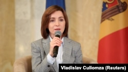 MOLDOVA -- Moldovan President-elect Maia Sandu speaks during a news conference in Chisinau, November 30, 2020