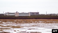 RUSSIA -- Buildings at a military base in the small town of Nyonoska in Arkhangelsk region, November 9, 2011