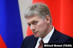 RUSSIA -- Kremlin spokesman Dmitry Peskov attends a meeting in Sochi, February 14, 2019