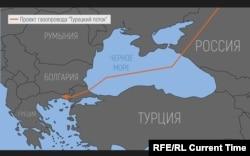 Map of Turkish Stream
