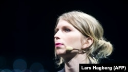 CANADA -- Former U.S. soldier Chelsea Manning speaks during the C2 conference in Montreal, Quebec, May 24, 2018