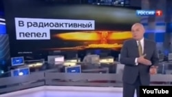 "Russia -- ""Russia Today"" head Dmitry Kiselev saying that ""Russia can turn US into radioactive ash"", 17 March 2014."