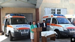 Moldovan health officials announce a new fleet of ambulances purchased from Russia