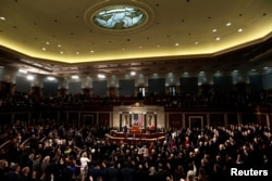 Members of the U.S. House of Representatives are sworn in on the House floor on the first day of the new session of Congress at the U.S. Capitol in Washington, U.S. January 3, 2017.