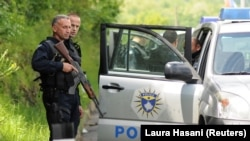 KOSOVO -- Kosovo police secure the area near the town of Zubin Potok, May 28, 2019