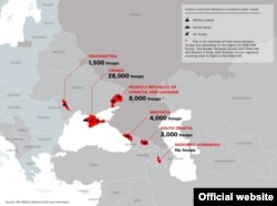European Council on Foreign Relations, Infographic of Russia's presence in conflict zones