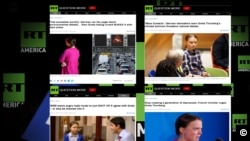 A collage of headlines showing RT's relentlessly negative coverage of 16-year old Swedish climate activist Greta Thunberg. Experts have attributed Russia's strong opposition to climate change action to the country's heavy dependence on oil and gas.