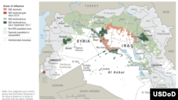 Islamic State losses in 2017 drawn on an unclassified map published by the U.S. Department of Defense