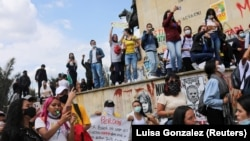 Anti-government protests in Bogota, on May 6, 2021.
