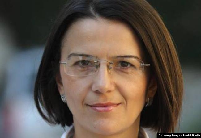 Moldova - Viorica Zaharia, president of Press Center, Chisinau