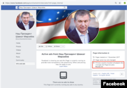 Uzbekistan - page dedicated to President Mirziyoyev and linked to employees of Sputnik was removed by Facebook.