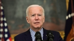 U.S. President Joe Biden makes remarks from the White House after his coronavirus pandemic relief legislation passed in the Senate, in Washington, U.S. March 6, 2021.
