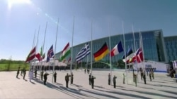 The handover ceremony of the new NATO headquarters during a one-day NATO Summit, in Brussels, Belgium, May 25, 2017