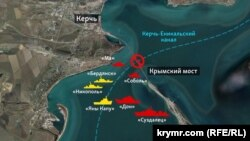 The layout of the Ukrainian and ships grew before the collision in the Kerch Strait
