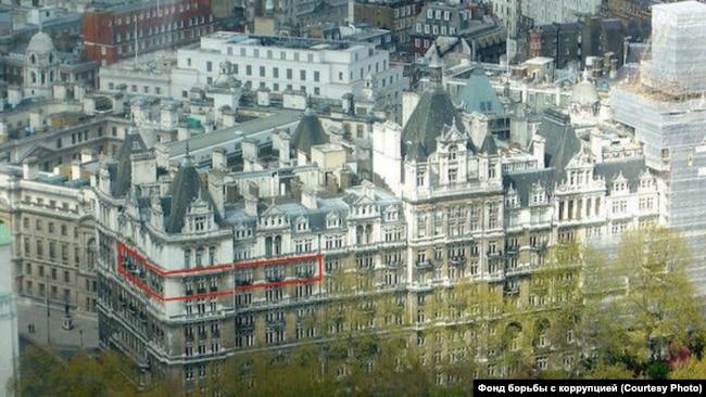 London. Apartment of Vice-Prime Minister Shuvalov according to Navalny