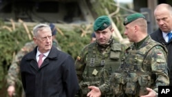On a visit to Lithuania in May 2017, U.S Defense Secretary James Mattis said NATO is helping provide a deterrent against potential Russian aggression in eastern Europe.