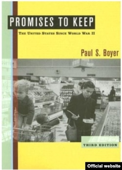 The original photo used on the cover of a book called Promises to Keep: The United States Since World War II by Paul S. Boyer.