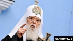 UKRAINE – Patriarch Filaret of the Ukrainian Orthodox Church of Kiev's Patriarchy. Kyiv, July 26, 2018