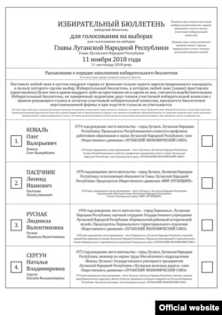"The ""LNR"" actual ballot, November, 2018"