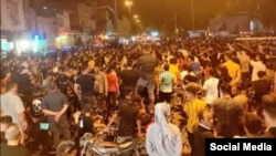 Protests over water shortage in Khuzestan, July 20, 2021.