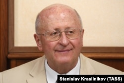 RUSSIA -- The director of Nikolai Gamaleya National Research Center for Epidemiology and Microbiology, Alexander Ginsburg attends a meeting of the Collegium of Russia's Ministry of Health.