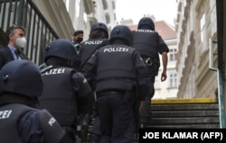Policemen patrol in Vienna on November 3, 2020, one day after a shooting at multiple locations across central Vienna.