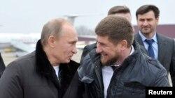 Vladimir Putin and Ramzan Kadyrov