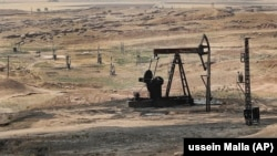 SYRIA -- An oil field controlled by the Kurdish-led Syrian Democratic Forces (SDF), in Rmeilan, Hassakeh province, northeast Syria, July 30, 2017