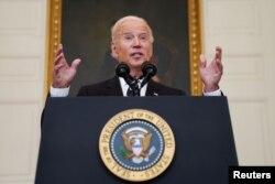 U.S. President Joe Biden delivers remarks on the Delta variant of coronavirus on September 9, 2021.
