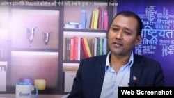 Screenshot of interview with social activist Surajeet Dutta uploaded by the Himal Online TV YouTube channel on August 29 (via South Asia Check).