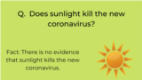 WHO infographic on COVID-19