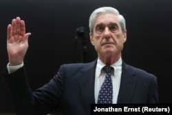 "U.S. -- Former Special Counsel Robert Mueller testifies before a House Judiciary Committee hearing on the Office of Special Counsel's investigation into Russian Interference in the 2016 Presidential Election"" on Capitol Hill in Washington, July 24, 2019"