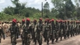 Central African Republic soldiers, trained by Russian instructors in Bangui