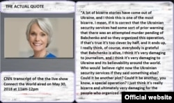 CNN TRanscript of Jill Dougherty's Quote misused by Nikita Mikhalkov