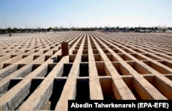 IRAN -- A general view of empty prepared graves at the Behesht Zahra Tehran's main cemetery in southern of Tehran, October 21, 2020.