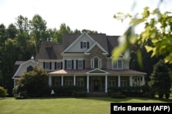 U.S. -- Photo shot shows the house of alleged spy Oleg Smolenkov, in Stafford, Virginia, September 10, 2019.