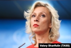 RUSSIA - MOSCOW -- The Spokeswoman for the Ministry of Foreign Affairs of the Russian Federation, Maria Zakharova, gives a press briefing on Russia's current foreign policy on October 17. 2018.