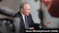 FINLAND –- HELSINKI, JULY 16, 2018: Russia's President Vladimir Putin gives an interview to Fox News Channel