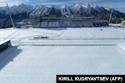 RUSSIA -- A general view of the shooting range of the Laura Cross Country and Biathlon Center in Russian Black Sea resort of Sochi on February 3, 2013