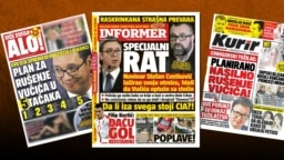 Serbia -- Front pages of Serbian tabloids regarding the issue of a special war allegedly led against Serbia Belgrade, July 13, 2018.