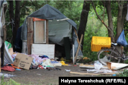 Roma camp in Lviv after an attack by right-wing groups. Lviv, 24 of June, 2018.