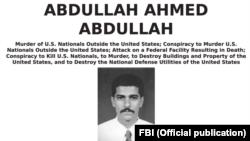 U.S. --FBI wanted poster of Abdullah Ahmed Abudallah, known as Abu Muhammad al-Masri.