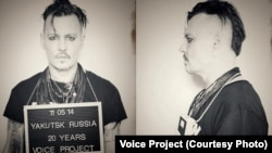 Johnny Depp in Support of Oleg Sentsov, the Ukrainian filmmaker and writer convicted by a Russian court on terrorism charges. The conviction was described as fabricated by Amnesty International and others.