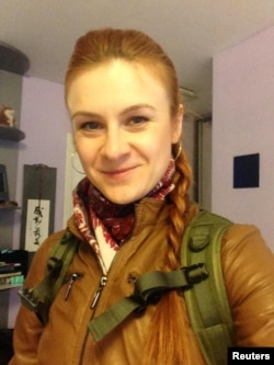 RUSSIA - Convicted Russian agent Maria Butina appears in a photo from her Twitter account obtained on July 19, 2018.