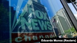 A Fox News channel sign is seen at the News Corporation building in the Manhattan borough of New York City, New York, U.S., June 15, 2018.