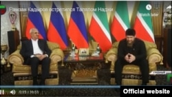 Screengrab: Grozny TV, Ramzan Kadyrov meeting Palestinian delegation in Chechnya on October 25, 2018