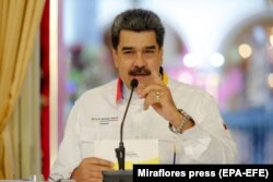 VENEZUELA – President Nicolas Maduro attends a government act in Caracas, on November 10, 2020.