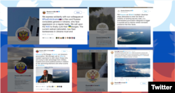 Tweets by the Russian foreign ministry accounts
